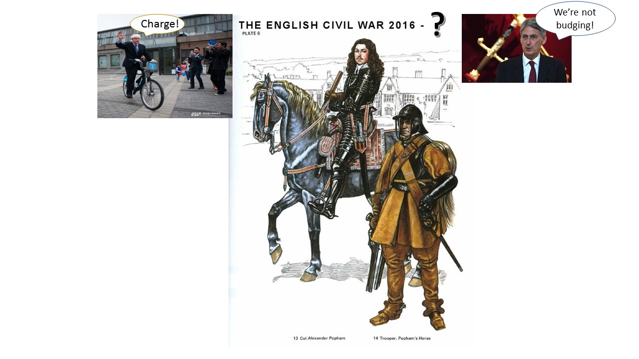Would a 2019 version of the English Civil War appear like this?
